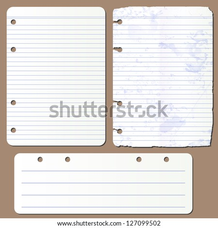 vector pages from notepad - stock vector