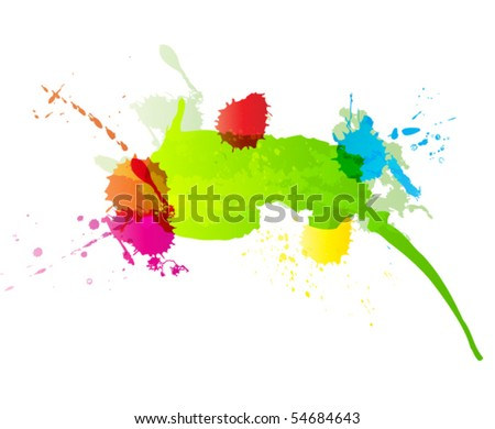vector paint background - stock vector