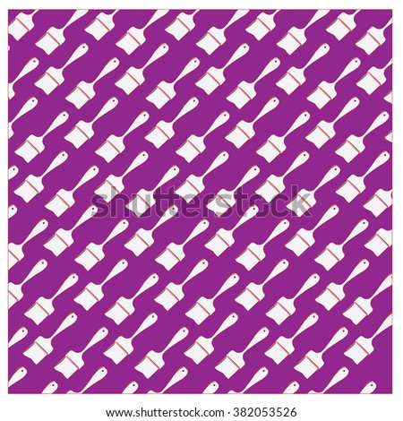 Vector paint brush colorful pattern - stock vector