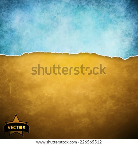 Vector painted watercolor background. - stock vector