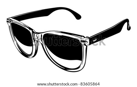 Vector Pair of Plastic Sunglasses Two. - stock vector