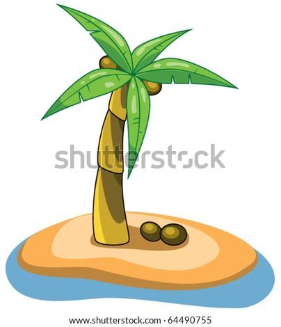 vector palm clip-art - stock vector