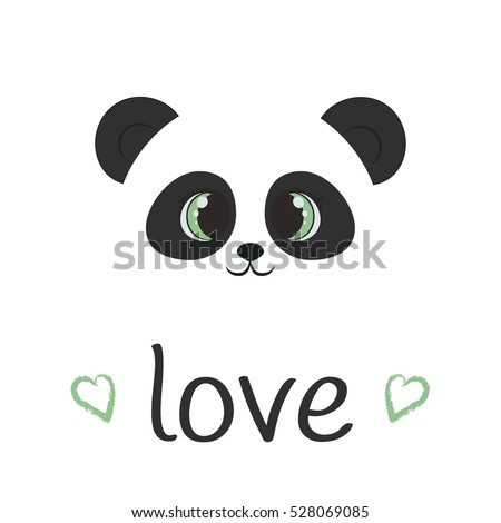 Vector Panda Animal Illustration Hello Icon Stock Vector 528069085