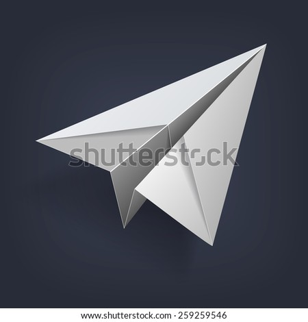 Vector paper airplane