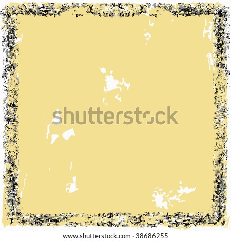 Vector Paper And Border Frame Grunge - stock vector