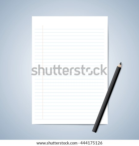 Lined Paper Photos RoyaltyFree Images Vectors Shutterstock – Lined Blank Paper