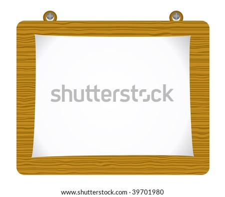 Vector paper attach to old wooden background - stock vector
