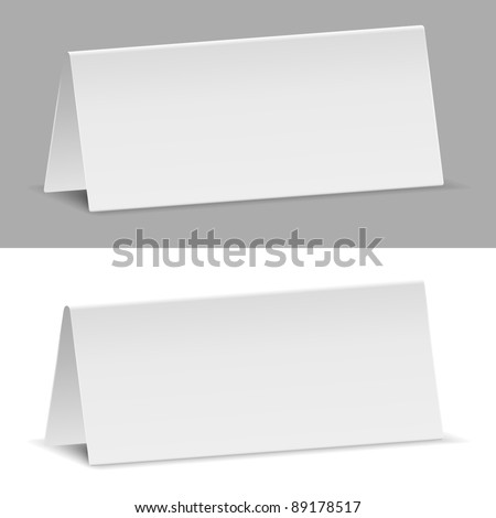Vector Paper Banners, Transparent Shadow - stock vector