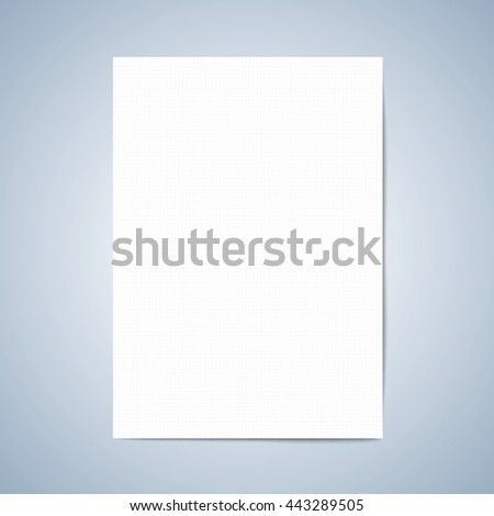 Vector Paper. Blank Paper, Lined Paper With Pencil, Layout Template For  Graphic,  Paper Lined