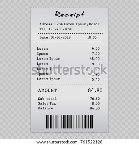 vector paper check sell receipt bill stock vector royalty free