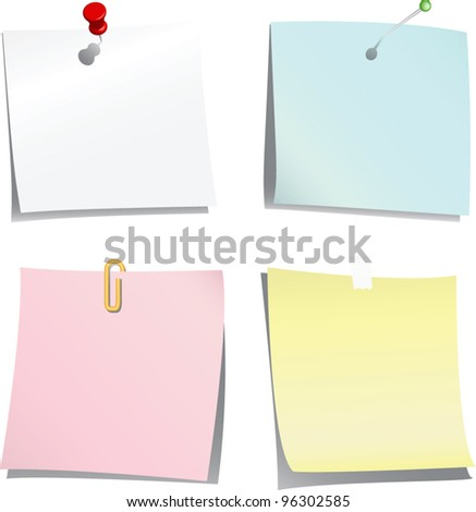Vector paper  collection - stock vector