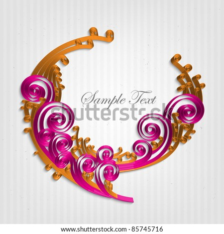 Vector Paper Crafted Bubble - stock vector