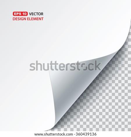 vector paper curl - stock vector