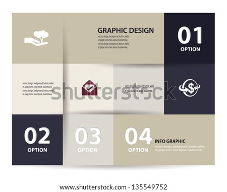 Vector paper element and numbers design template . Vector illustration. Infographics Options. - stock vector