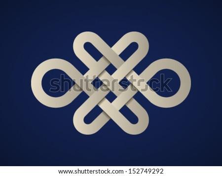Celtic Endless Knot Vector paper endless celtic
