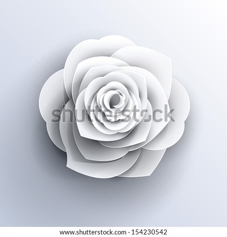 vector paper flower origami icon - stock vector