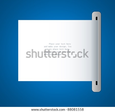 Vector paper frame background for message