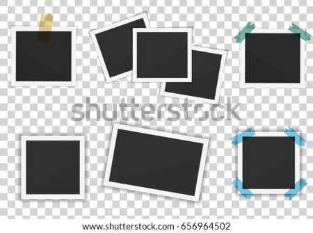 Vector Paper Frames Pack Isolated On Stock Vector 656964502 ...
