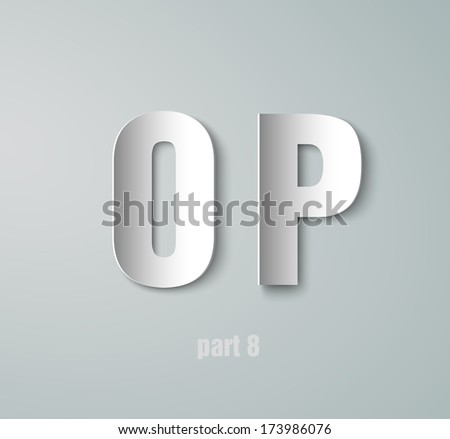 Vector Paper Graphic Alphabet O P - stock vector