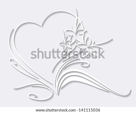 Vector paper heart - stock vector