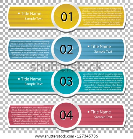 Vector paper lines and numbers. clean template for web site. - stock vector