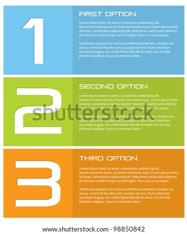 Vector paper product options. - stock vector