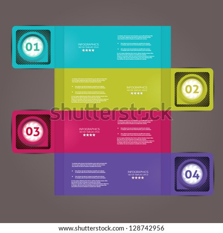 Vector Paper Progress Background / Product Choice or Version - stock vector