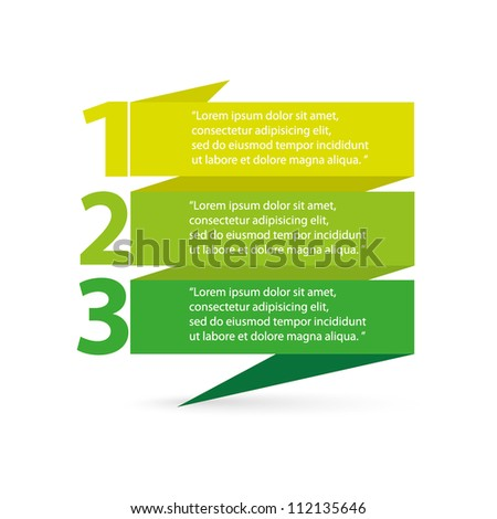Vector Paper Progress background / product choice or versions - stock vector