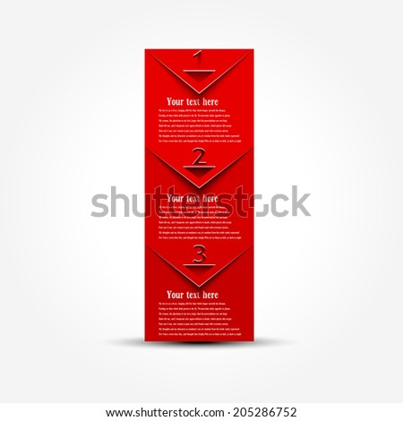 Vector Paper Progress background / product choice or versions. banner set. cover design elements.  - stock vector