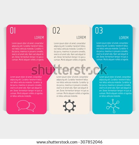 Vector paper progress steps for tutorial. Option infographic banners. Number banners template for diagram, graph, presentation or chart. Business concept sequence banners. EPS10 workflow layout. - stock vector