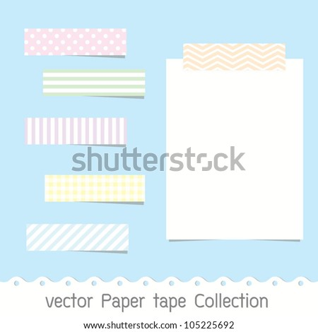 vector Paper tape Collection - stock vector