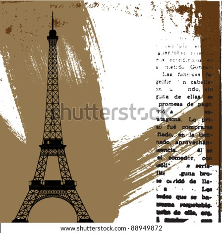 vector paris theme - stock vector