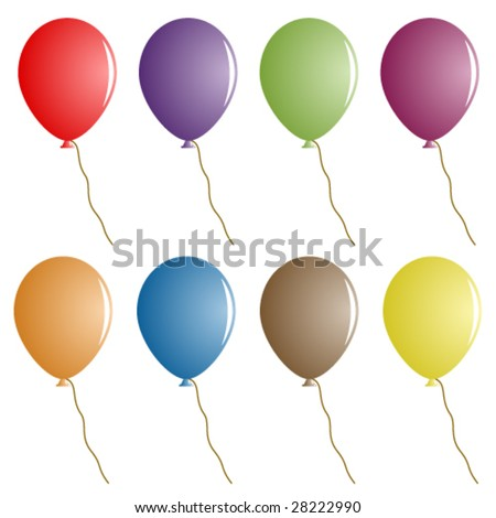 vector party balloons - stock vector