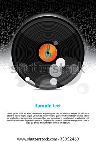 vector party poster design - stock vector
