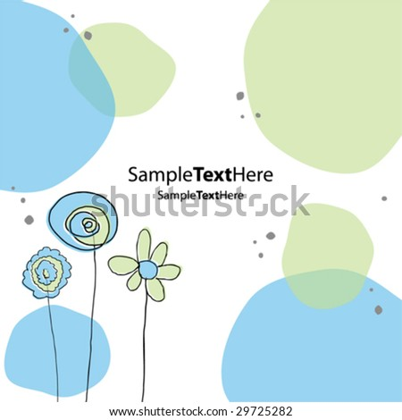 Vector pastel background card 2 - stock vector
