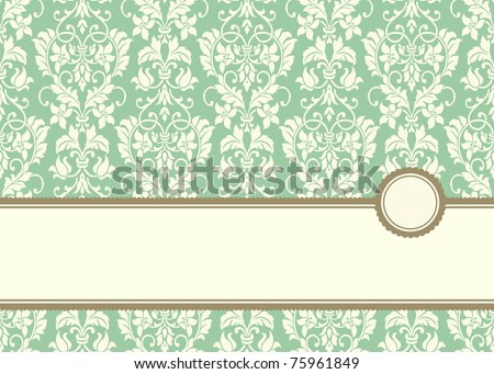 Vector Pastel Banner Frame and Background. Easy to edit. Perfect for invitations or announcements. - stock vector