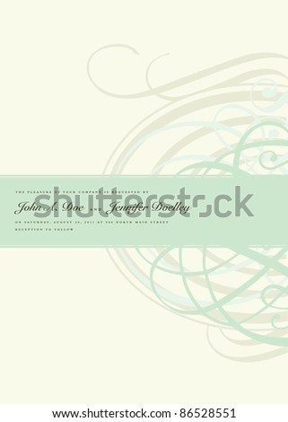 Vector Pastel Half Ornament Frame. Easy to edit. Perfect for invitations or announcements. - stock vector