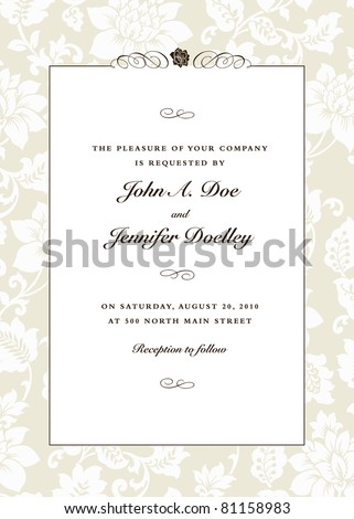 Vector Pastel Pattern and Ornament Frame. Easy to edit. Perfect for invitations or announcements. - stock vector