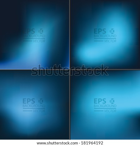 Vector pastel tone  blurred and smooth backgrounds set. - stock vector