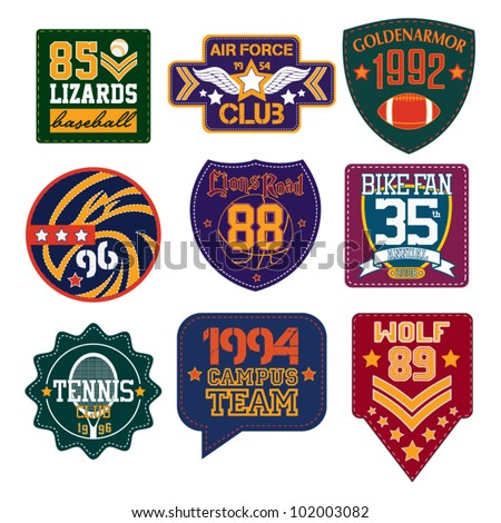 vector patch - stock vector