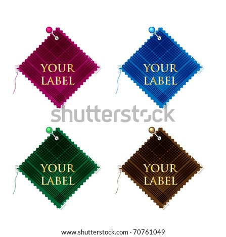 vector patch labels - stock vector