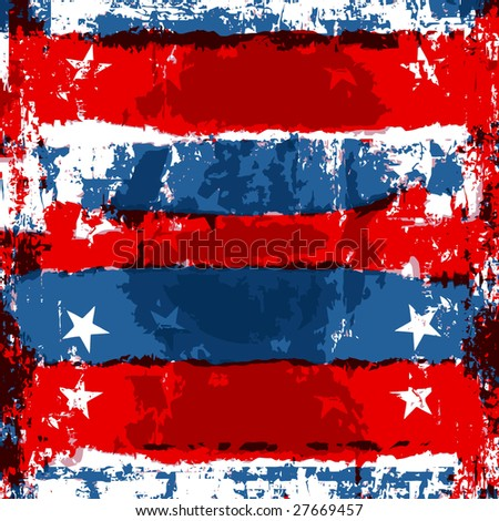 Vector Patriotic Grunge, Also Jpeg Is Available - stock vector