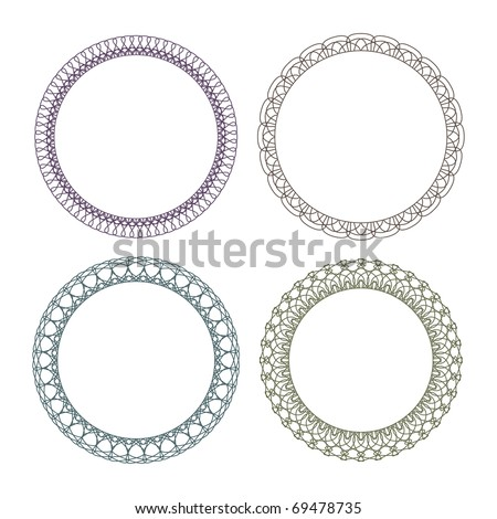 Vector pattern for currency, certificate or diplomas, decorative elements - stock vector