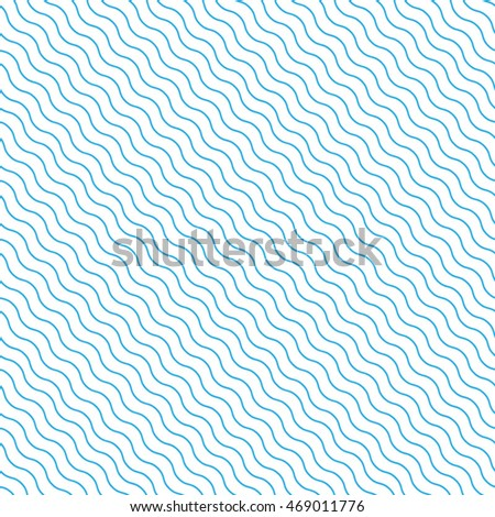 Vector pattern. Geometric abstract blue wavy background