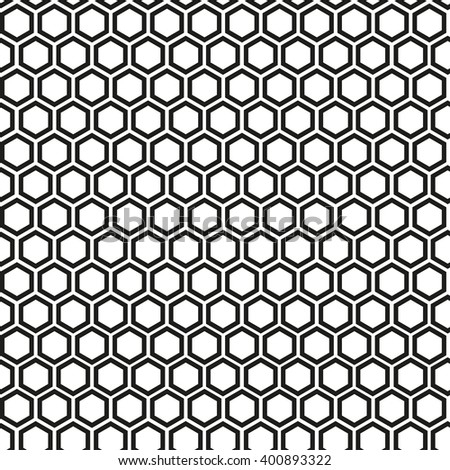 Vector  pattern - geometric seamless simple black and white modern texture