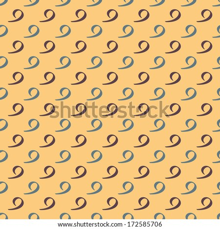 Vector pattern made with the number 9 - stock vector