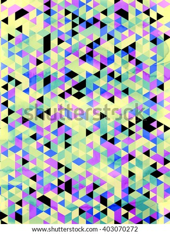 Vector pattern. Modern geometric background. Polygonal art. Abstract backtop. Web design background. - stock vector