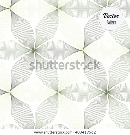 Vector pattern. Repeating geometric abstract linear flower - stock vector