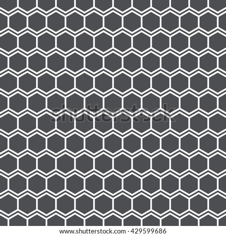 Vector pattern. Repeating geometric tiles with linear hexagon shape