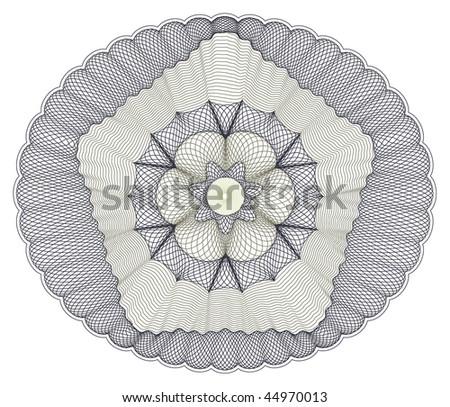 vector pattern rosette guilloche - stock vector